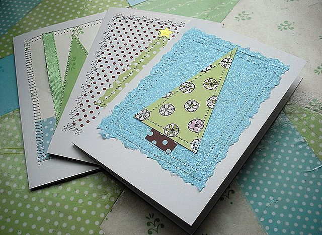 More easy handmade christmas card ideas for Homemade christmas card ideas