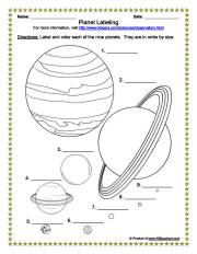astronomy worksheets - photo #17