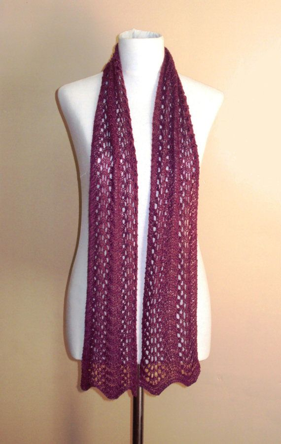 INSTANT DOWNLOAD Knitting pattern Lace fan scarf - Lace knit scarf pa?