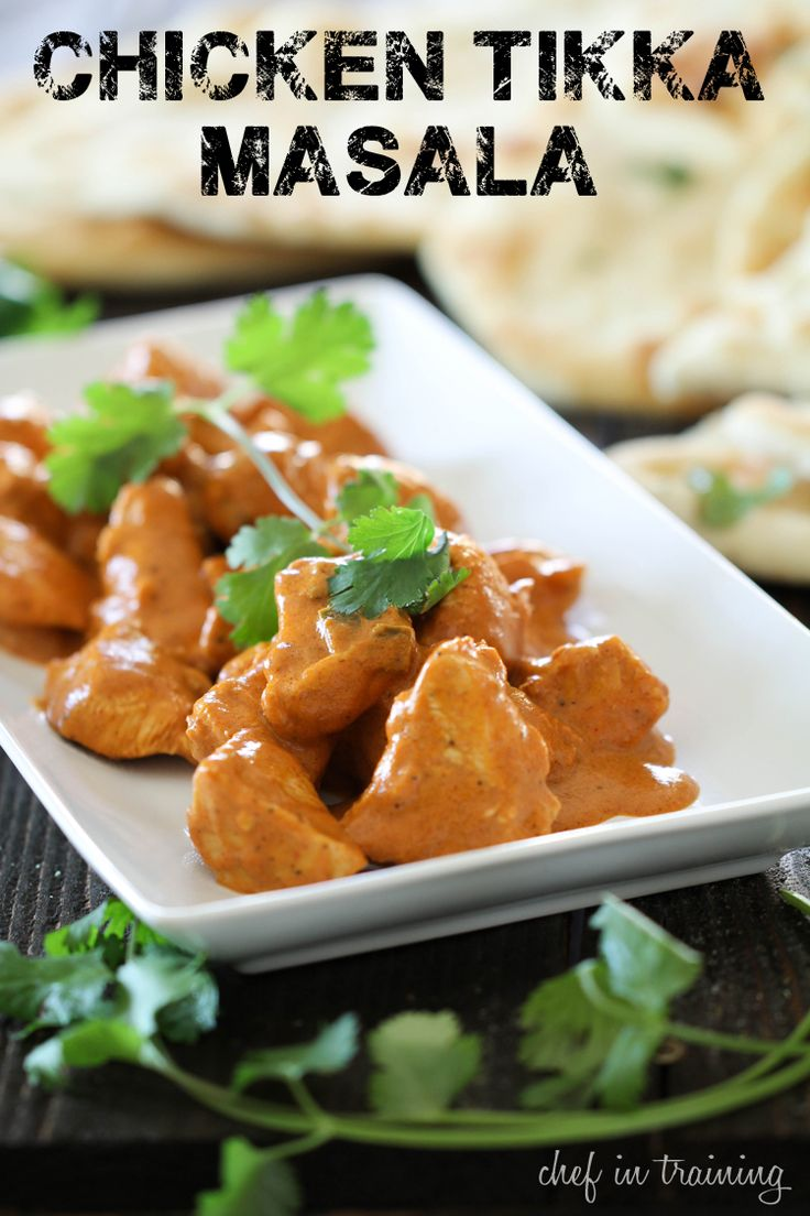 Chicken Tikka Masala on chef-in-training.com ...This dinner is JAM ...