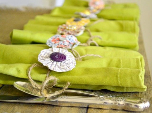 Staging the Dining Room Table: DIY Napkin Rings | DIY Home Staging Tips