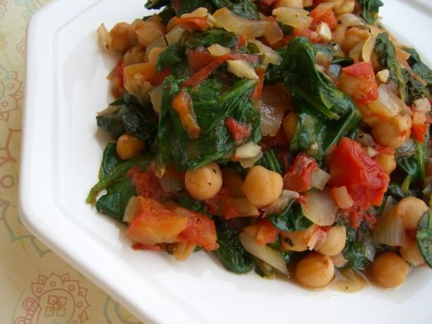 Chickpeas With Spinach (Greek) Recipe - Food.com - 81968 This is ...