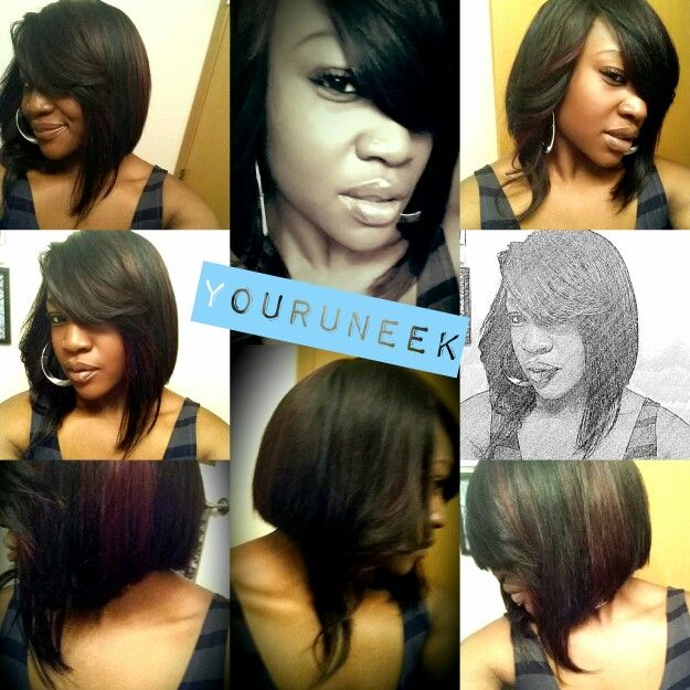 quick weave with natural part