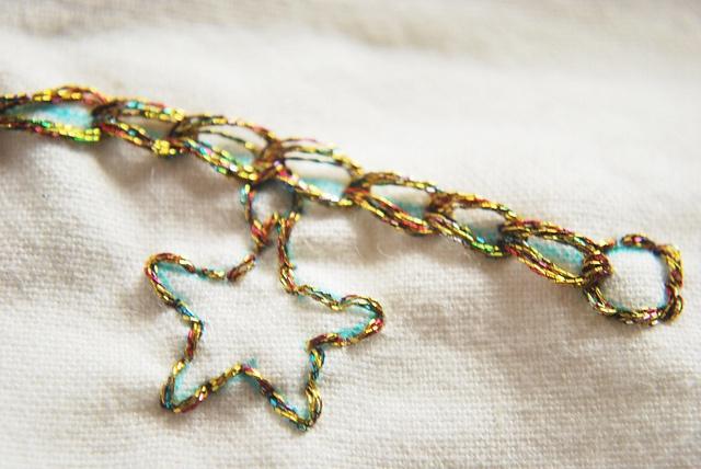 Stitched charm bracelet by wildolive