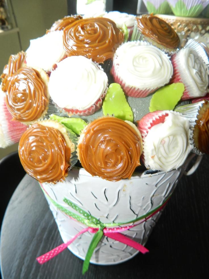 mini cupcake arrangement (rum with dulce de leche & guava with cream ...