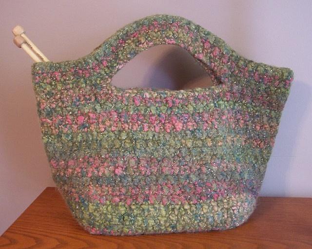Felted Crochet Bag : Felted Cache Bag - Free crochet pattern crochet bags,totes,purses ...