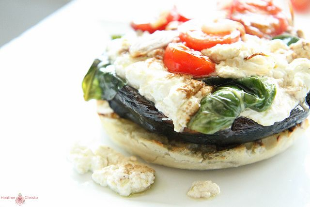 roasted tomatoes double portobello burgers with roasted tomatoes ...