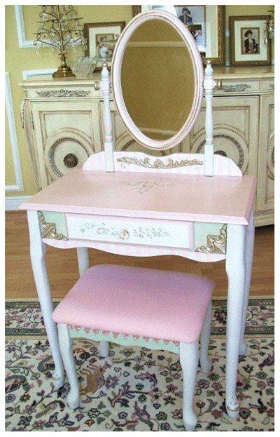Girl Vanity Sets Tutu Chair Pinterest
