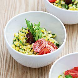 Sweet corn salad with jalapeños, ch | salads & Sandwiches | Pinterest