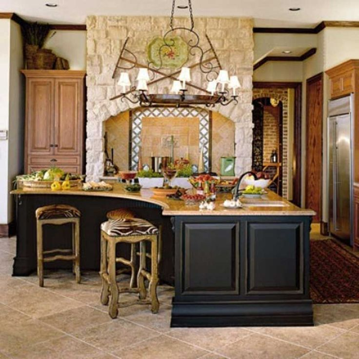 60 Awesome Kitchen Island Designs Kitchen Pinterest