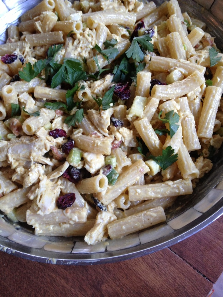 curried chicken pasta salad | Foodies | Pinterest