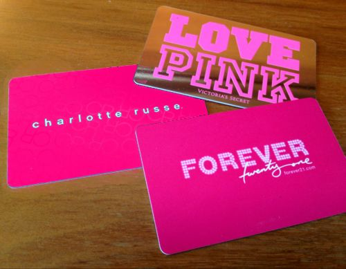 Oh gosh...gift cards to some of my favorite stores <3