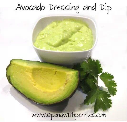 Avocado dressing and dip | Recipes | Pinterest