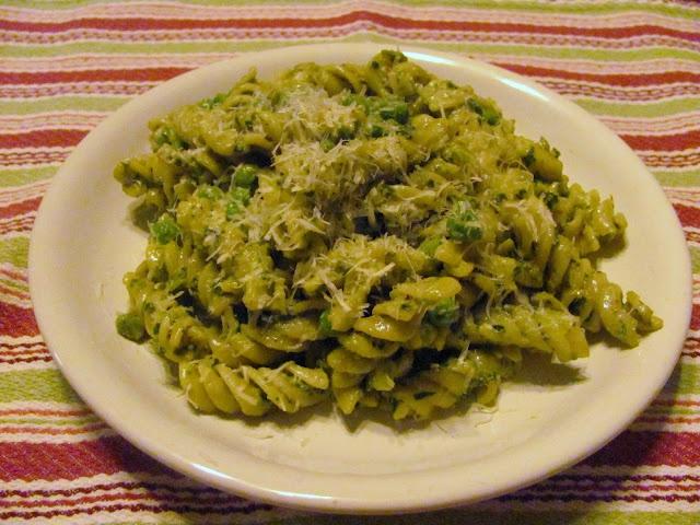 Pesto, Peas, and Pasta Salad
