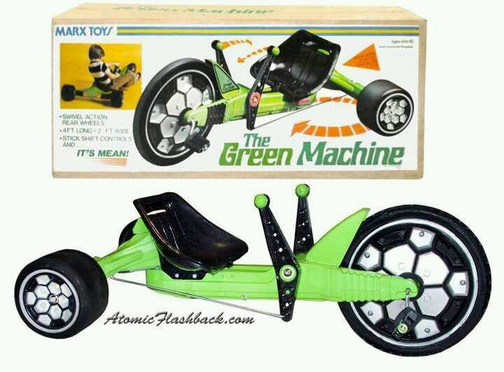 The Green Machine | Vintage Toys, Dolls & Games | Pinterest