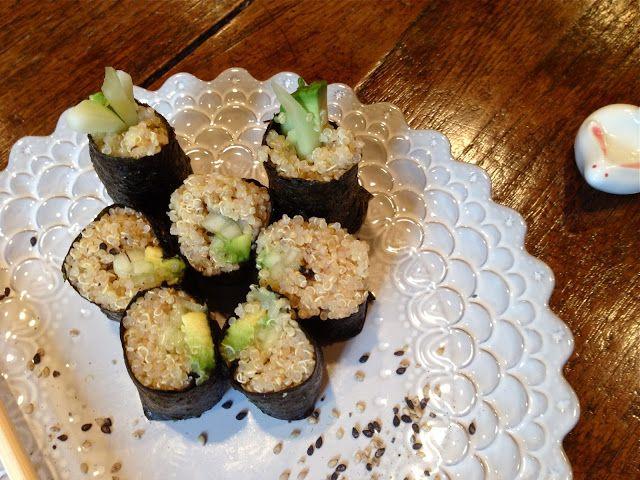 Quinoa cucumber avocado Sushi | Yummy secrets of The Joy Luck Club ...