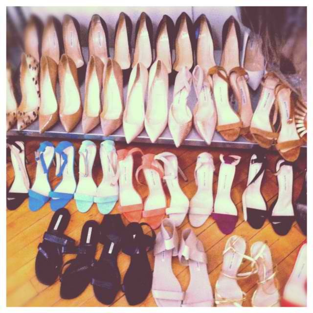 Look at all these Manolo Blahnik Chaos shoes