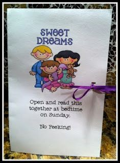 Such an adorable idea!  Goes well with The Night Before First Grade. There is a poem on the inside with a tiny bag of confetti for kids to sprinkle on their pillow to help them fall asleep.