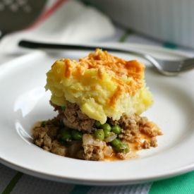 lightened up version of Shepherd's Pie with ground turkey, Yukon ...