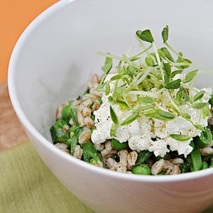 ThymeToWin - Farro with Sweet Peas, Fresh Herbs and Ricotta from Food ...