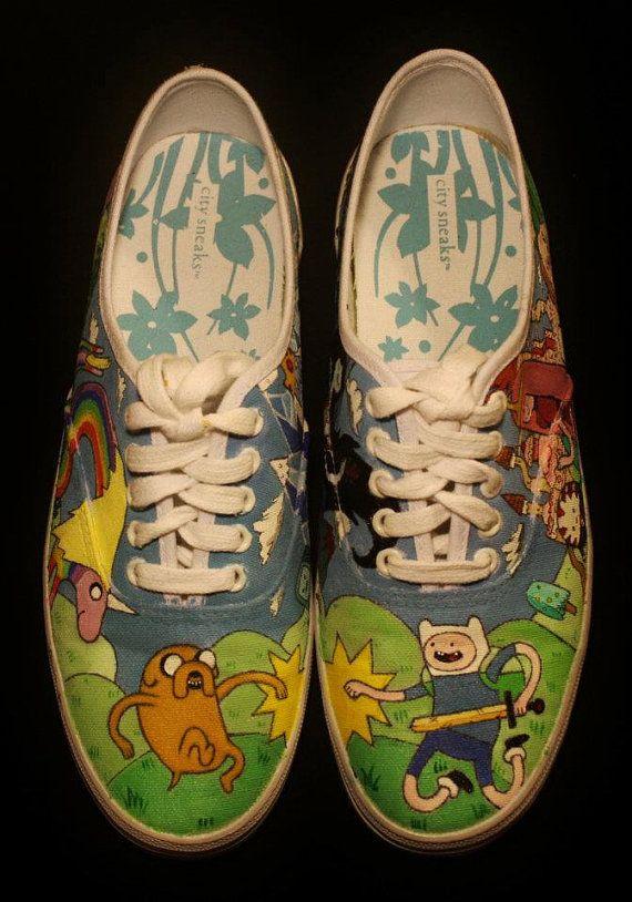 Custom Adventure Time Shoes
