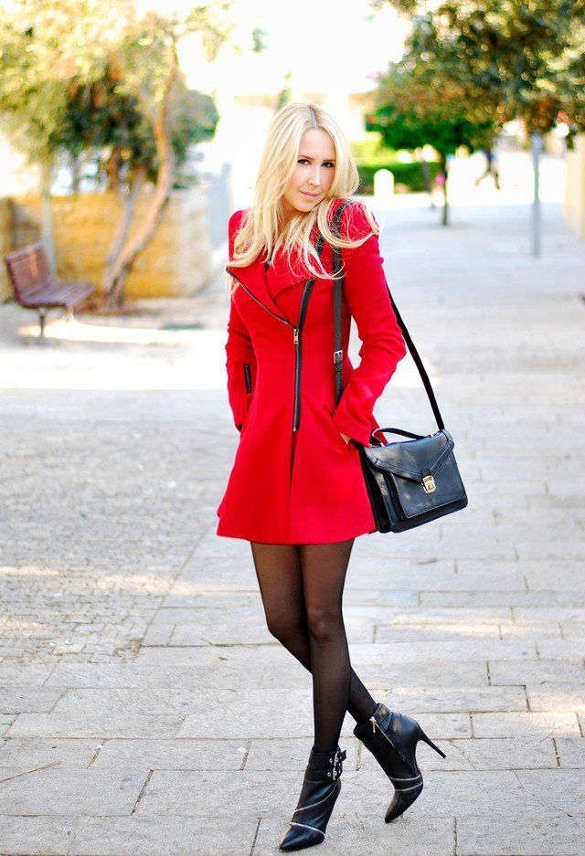 13 Fashionable Red Coats Outfit Ideas for New Year