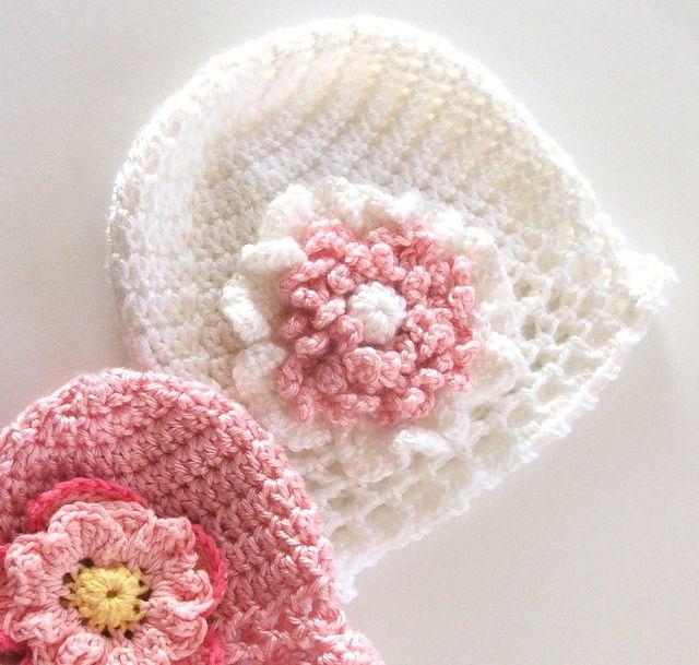 Double Crochet Baby Bonnet Pattern : Susans Fast and Easy Double Crochet Baby Hat pattern by ...