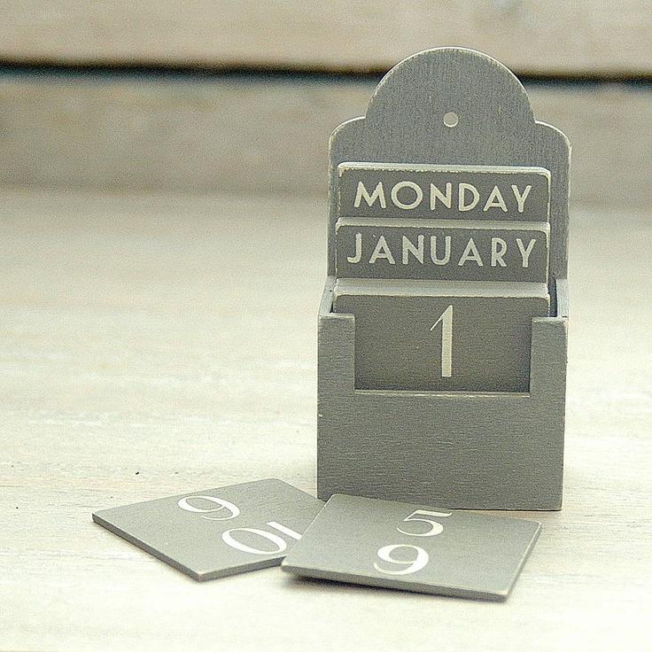 Wooden Perpetual Calendar | Perpetual Calendar | Pinterest