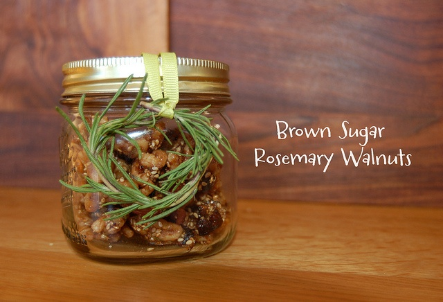 Brown Sugar Rosemary Walnuts w/ mini wreath by Five and One