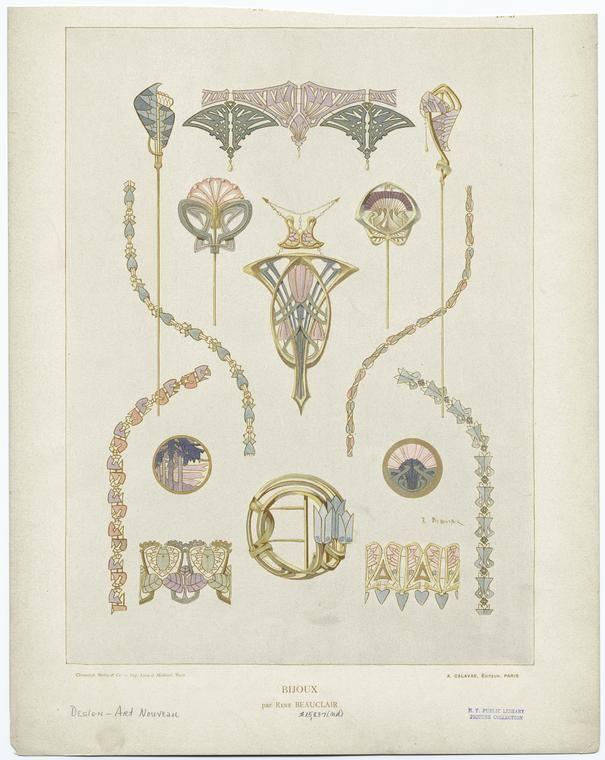 Art Nouveau jewelry designs | Art Nouveau | Pinterest: pinterest.com/pin/285697170083499150