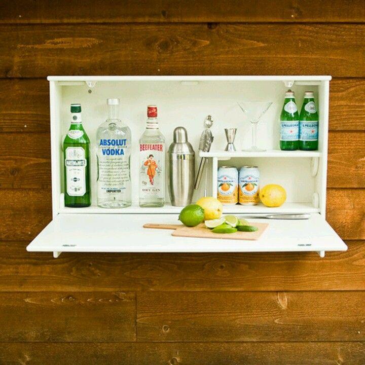 Hidden bar small apartment boat house pinterest - Mini bar for apartment ...