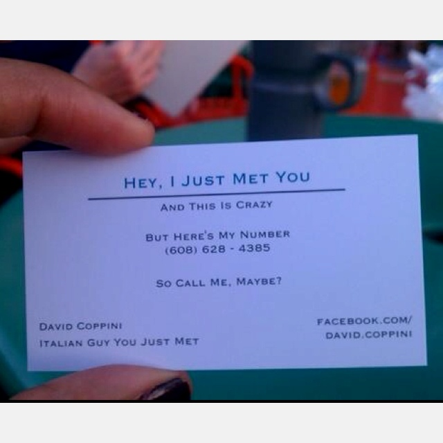 best business card ever Sayingss