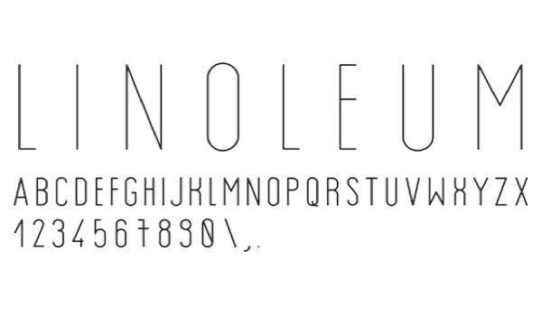 Linoleum, by Ivan Markovic. #type