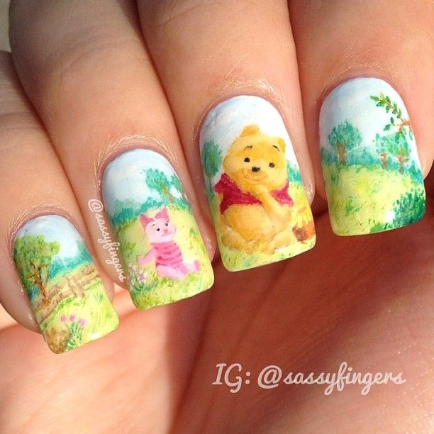 Winnie The Pooh Nails: Winnie The Pooh And Piglet Nails