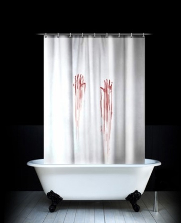 blood bath shower curtain zombies pinterest 9 great gifts for horror fans amp halloween lovers fun