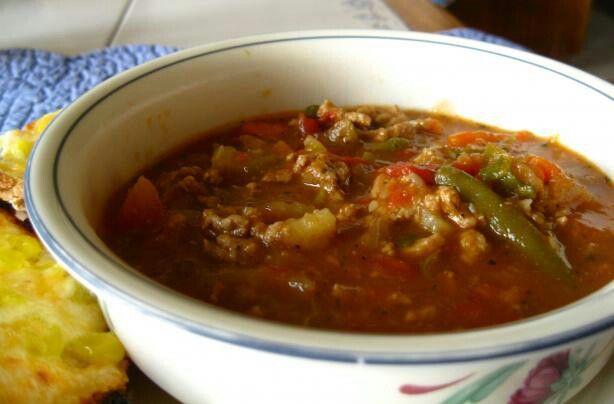 Soul warming beef/veggie soup 5:2 recipe