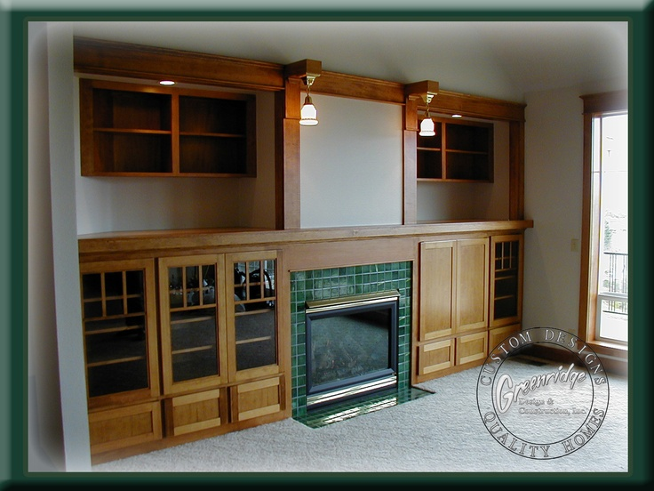 craftsman style entertainment center greenridge
