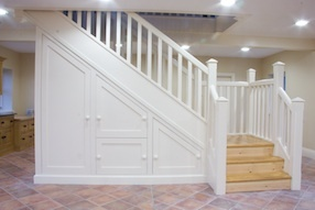 under stair cabinets Making the basement cozy Pinterest