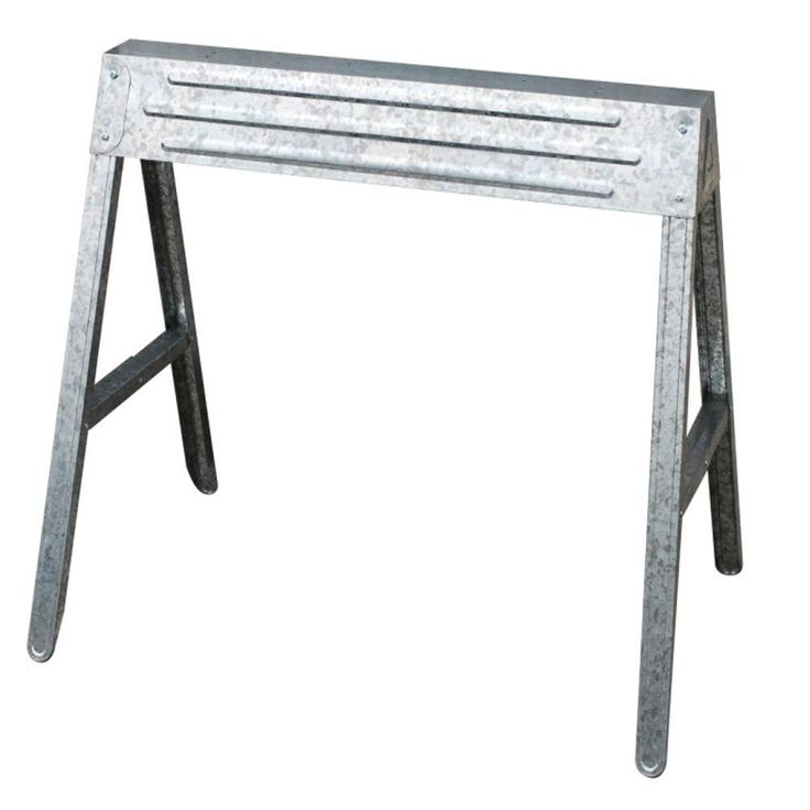 1 compartment folding steel sawhorse Sawhorse desk legs