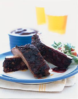 Baked Ribs with Spicy Blackberry Sauce | Recipe