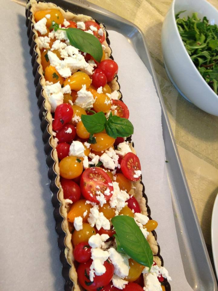 Basil Pesto Tart with Fresh, Cherry tomatoes and Ricotta. www ...