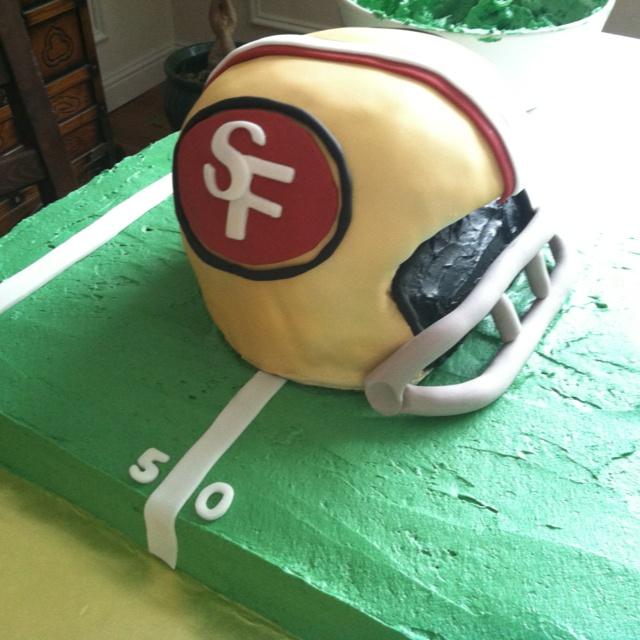 49ers helmet cake
