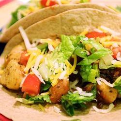 Lime Chicken Soft Tacos (Allrecipes.com)