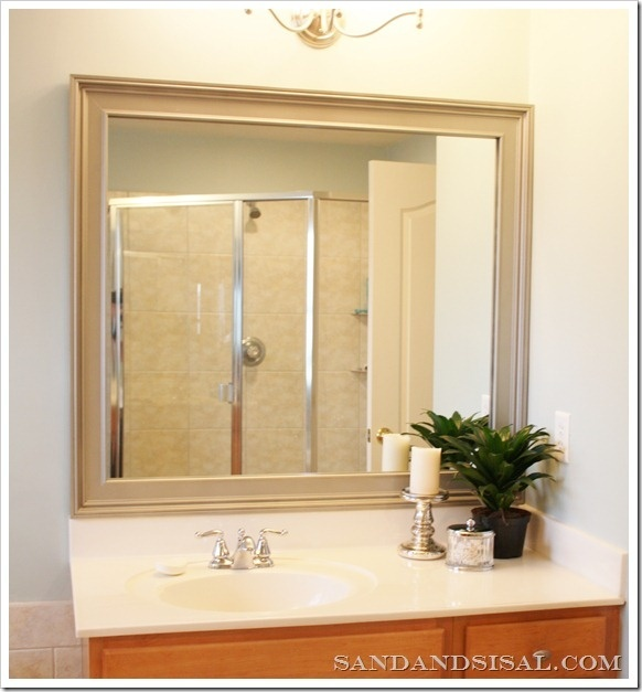 update bathroom mirror diy for the home pinterest
