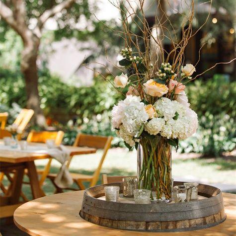 rustic wildflower centerpieces. outdoor country wedding