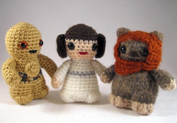Crochet Pattern Small Amigurumi : PDFs of any 3 Star Wars Mini Amigurumi Patterns