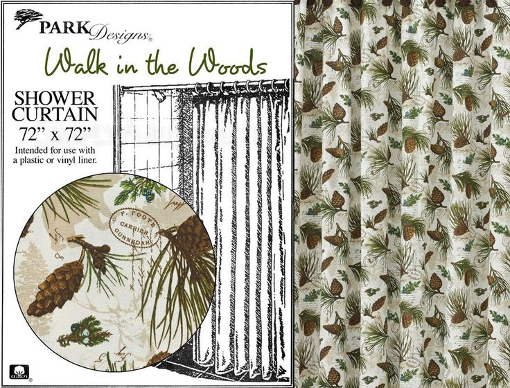 Walk in the Woods Shower Curtain by Park Designs, 72x72, Lovely Woods ...