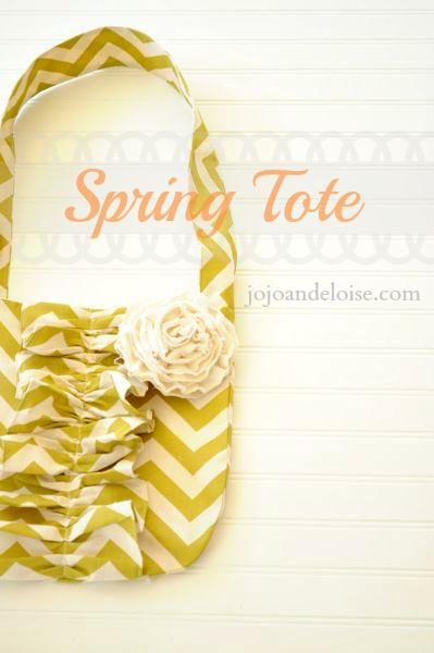 DIY Spring Cheveron Tote Bag