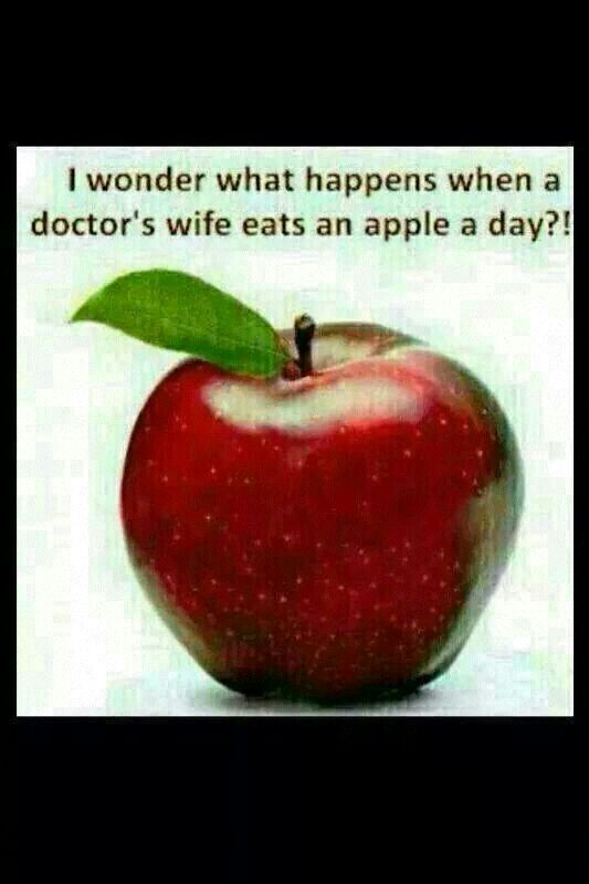 An apple a day..... | Humour | Pinterest