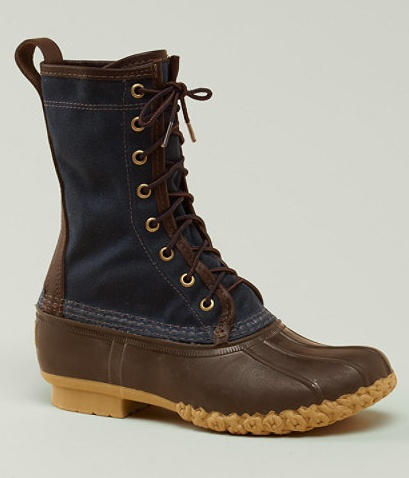 LL Bean Signature Wax Cloth Hunting Boot